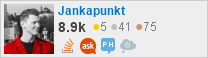 profile for Jankapunkt on Stack Exchange, a network of free, community-driven Q&A sites