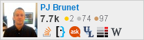 profile for PJ Brunet on Stack Exchange, a network of free, community-driven Q&A sites