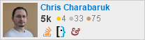 profile for Chris Charabaruk on Stack Exchange, a network of free, community-driven Q&A sites
