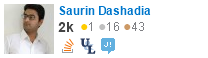 profile for Saurin Dashadia on Stack Exchange, a network of free, community-driven Q&A sites