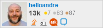profile for helloandre on Stack Exchange,a network of free, community-driven Q&A sites