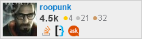 profile for roopunk on Stack Exchange, a network of free, community-driven Q&A sites