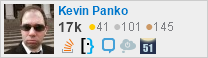 profile for Kevin Panko on Stack Exchange, a network of free, community-driven Q&A sites