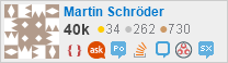 profile for Martin Schröder on Stack Exchange,a network of free, community-driven Q&A sites