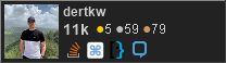 profile for dertkw on Stack Exchange, a network of free, community-driven Q&A sites
