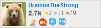profile for UrsinusTheStrong on Stack Exchange, a network of free, community-driven Q&A sites