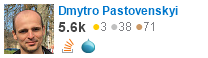 profile for Dmytro Pastovenskyi on Stack Exchange, a network of free, community-driven Q&A sites