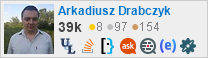 profile for Arkadiusz Drabczyk on Stack Exchange, a network of free, community-driven Q&A sites