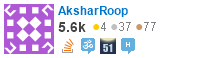 profile for AksharRoop on Stack Exchange, a network of free, community-driven Q&A sites