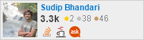 profile for Sudip Bhandari on Stack Exchange, a network of free, community-driven Q&A sites