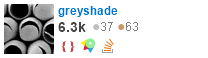 profile for greyshade on Stack Exchange, a network of free, community-driven Q&A sites