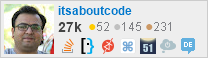 profile for itsaboutcode on Stack Exchange, a network of free, community-driven Q&A sites