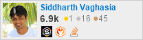 profile for Siddharth Vaghasia on Stack Exchange, a network of free, community-driven Q&A sites