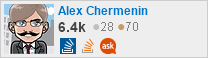 Profile for Alex Chermenin on Stack Exchange, a network of free, community-driven Q&A sites