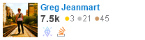 profile for gjeanmart on Stack Exchange, a network of free, community-driven Q&A sites