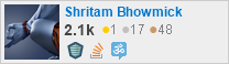profile for Shritam Bhowmick on Stack Exchange, a network of free, community-driven Q&A sites