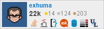 profile for exhuma on Stack Exchange, a network of free, community-driven Q&A sites