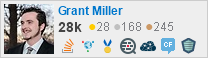 Grant Miller's Stack Exchange Flair