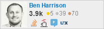 profile for Ben Harrison on Stack Exchange, a network of free, community-driven Q&A sites