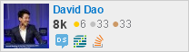 profile for David Dao on Stack Exchange, a network of free, community-driven Q&A sites
