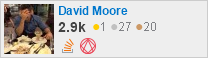 profile for David Moore on Stack Exchange, a network of free, community-driven Q&A sites