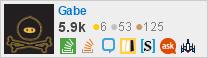 perfil de Gabe no Stack Exchange, uma rede gratuita de sites de perguntas e respostas orientadas à comunidade