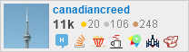 profile for canadiancreed on Stack Exchange, a network of free, community-driven Q&A sites
