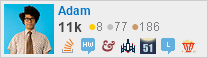 Adam's profile on Stack Exchange