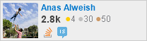 profile for Anas Alweish on Stack Exchange, a network of free, community-driven Q&A sites
