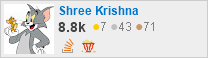 profile for Shree Krishna on Stack Exchange, a network of free, community-driven Q&A sites