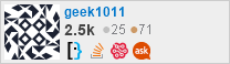 profile for geek1011 on Stack Exchange, a network of free, community-driven Q&A sites