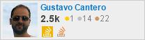 perfil para Gustavo Cantero en Stack Exchange, una red de sitios gratuitos de preguntas y respuestas impulsados por la comunidad