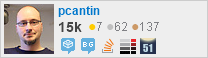 profile for pcantin on Stack Exchange, a network of free, community-driven Q&A sites