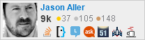 profile for Jason Aller on Stack Exchange, a network of free, community-driven Q&A sites