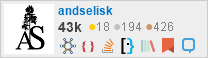 profile for andselisk on Stack Exchange, a network of free, community-driven Q&A sites
