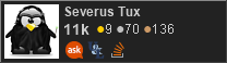 profile for Severus Tux on Stack Exchange, a network of free, community-driven Q&A sites