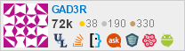 profile for GAD3R on Stack Exchange, a network of free, community-driven Q&A sites