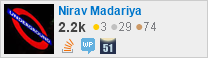 profile for Nirav Madariya on Stack Exchange, a network of free, community-driven Q&A sites