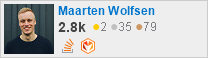profile for Maarten Wolfsen on Stack Exchange, a network of free, community-driven Q&A sites
