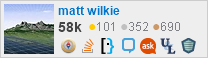 profile for matt wilkie on Stack Exchange, a network of free, community-driven Q&A sites