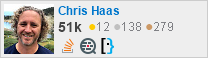 profile for Chris Haas on Stack Exchange, a network of free, community-driven Q&A sites