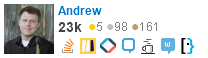 profile for Andrew on Stack Exchange, a network of free, community-driven Q&A sites