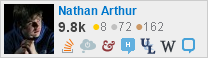 profile for Nathan Arthur on Stack Exchange, a network of free, community-driven Q&A sites