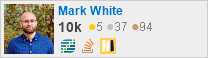 profile for Mark White on Stack Exchange, a network of free, community-driven Q&A sites