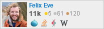 profile for Felix Eve on Stack Exchange, a network of free, community-driven Q&A sites