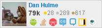 profile for Dan Hulme on Stack Exchange, a network of free, community-driven Q&A sites