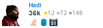 profile for Hadi on Stack Exchange, a network of free, community-driven Q&A sites