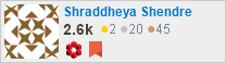 profile for Shraddheya Shendre on Stack Exchange, a network of free, community-driven Q&A sites