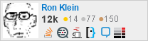 profile for Ron Klein on Stack Exchange, a network of free, community-driven Q&A sites