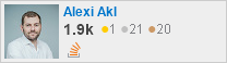 profile for Alexi Akl on Stack Exchange, a network of free, community-driven Q&A sites
